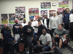 2009 Pats Rookies in team room