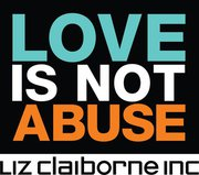 "Liz Claiborne ""Love Is Not Abuse"" logo"