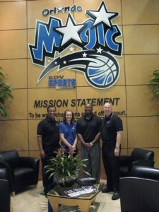 After training the Orlando Magic staff & coaches