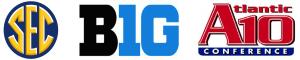 SEC, Big10 & A10 conferences