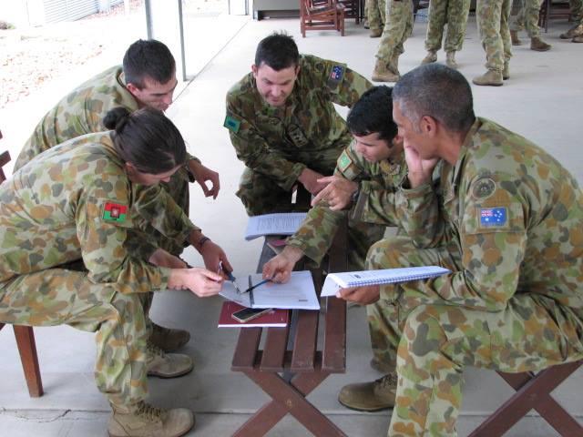Group Work at Lavarack Barracks